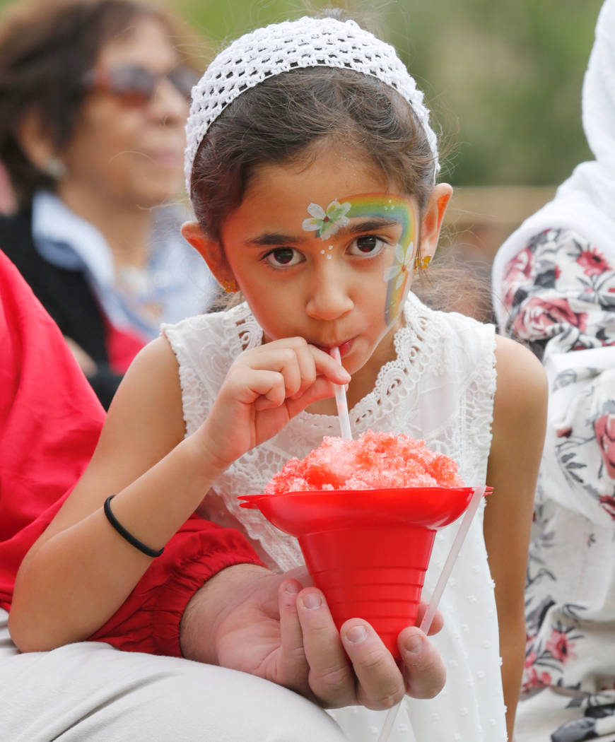 Ayya Moghadam, 7 of Las Vegas eats shave ice during the Asian Heritage Celebration at the Springs Preserve in Las Vegas, Saturday, Sept. 23, 2017. Chitose Suzuki Las Vegas Review-Journal @chitosephoto