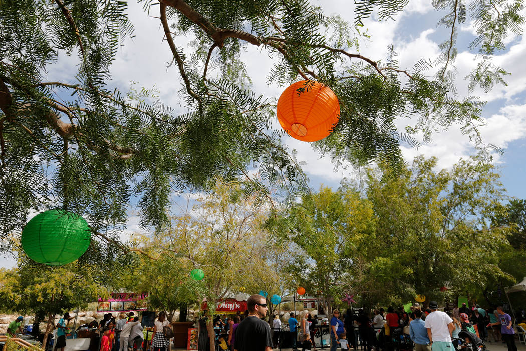 People attend the Asian Heritage Celebration at the Springs Preserve in Las Vegas, Saturday, Sept. 23, 2017. Chitose Suzuki Las Vegas Review-Journal @chitosephoto