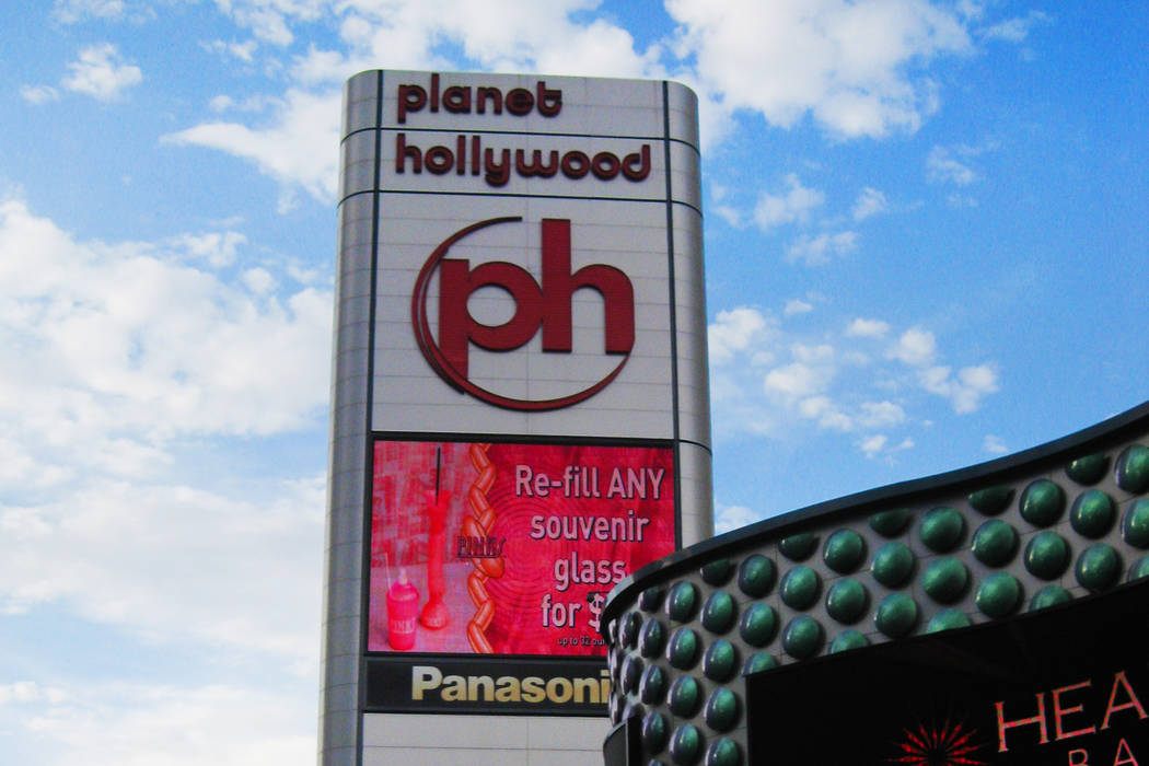 Planet Hollywood announced plans to open Café Hollywood this fall.  (Las Vegas Review-Journal File Photo)