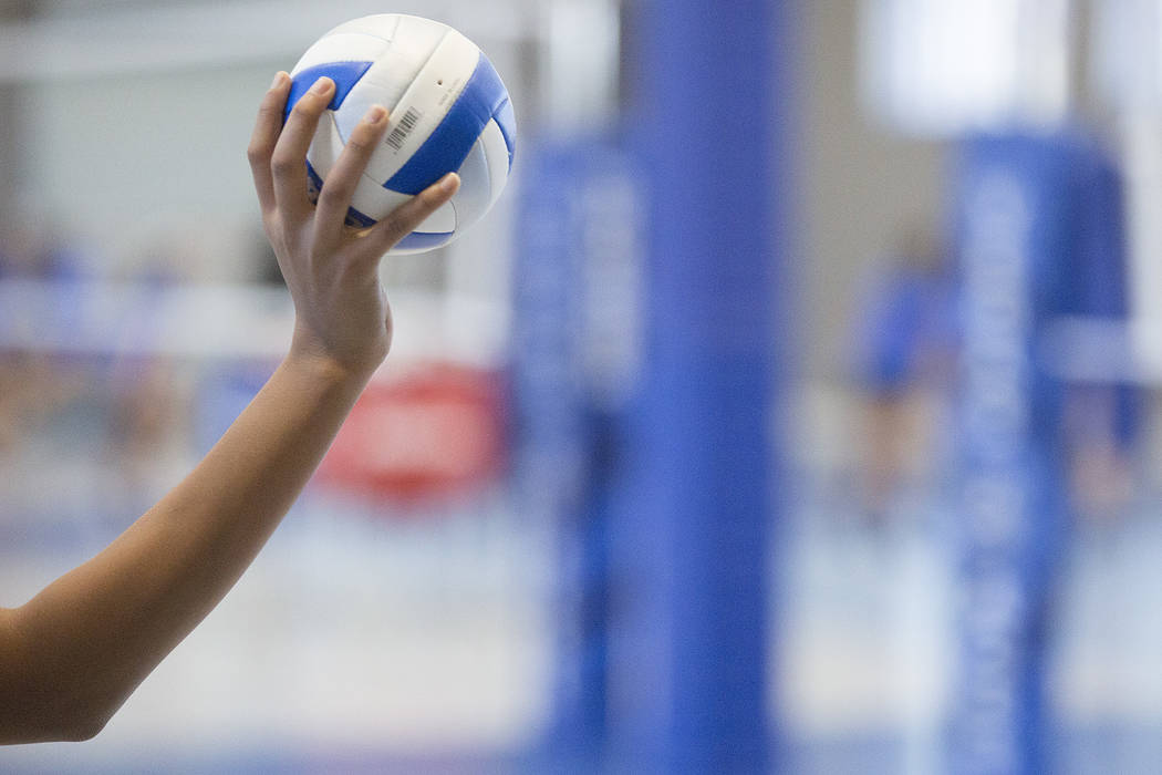 Volleyball players practice at the the new Vegas Aces Training Center on Friday, Sept. 22, 2017, in Henderson.  Bridget Bennett Las Vegas Review-Journal @bridgetkbennett