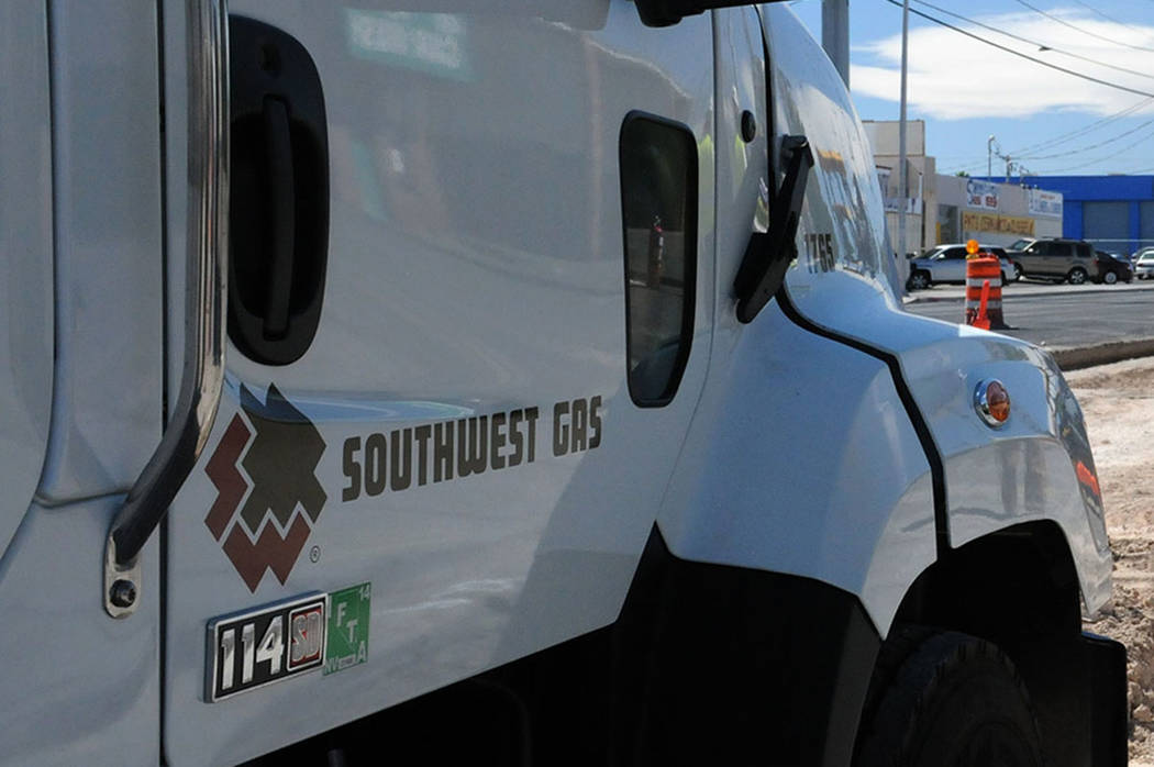 Southwest Gas was alerted of the leak around 9 a.m. when a third party reported hitting a 2-inch gas line. Erik Verduzco Las Vegas Review-Journal