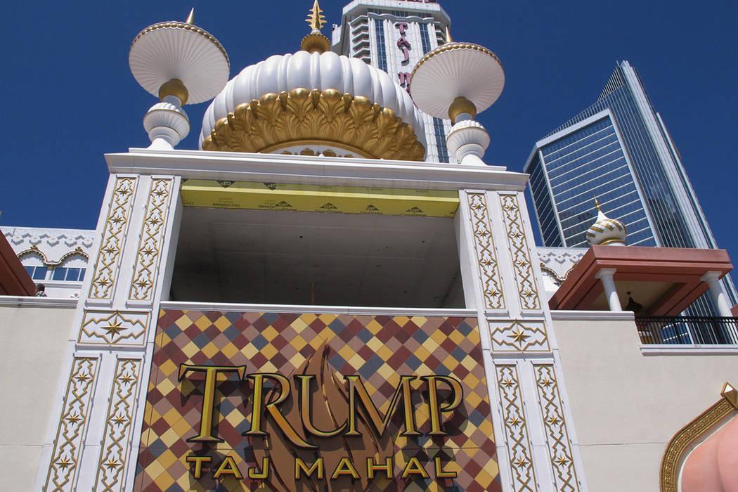 The exterior of the Trump Taj Mahal casino in Atlantic City, New Jersey, April 24, 2015. (Wayne Parry/AP)