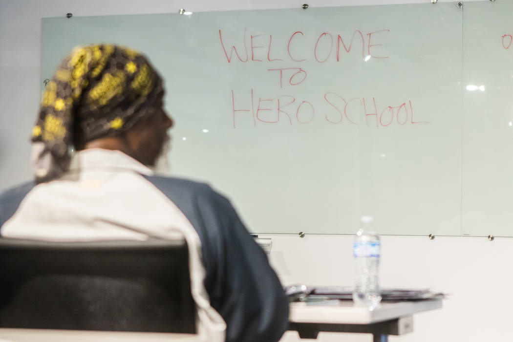 Hero School at RedFlint Experience Center on Saturday, Sept. 23, 2017, in Las Vegas. (Morgan Lieberman/Las Vegas Review-Journal)