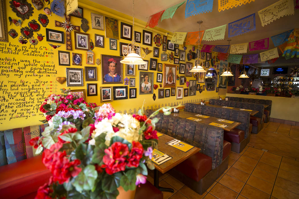Mexican restaurant Casa Don Juan at 1204 S. Main St., in downtown Las Vegas Friday, Sept. 1, 2017. Richard Brian Las Vegas Review-Journal @vegasphotograph