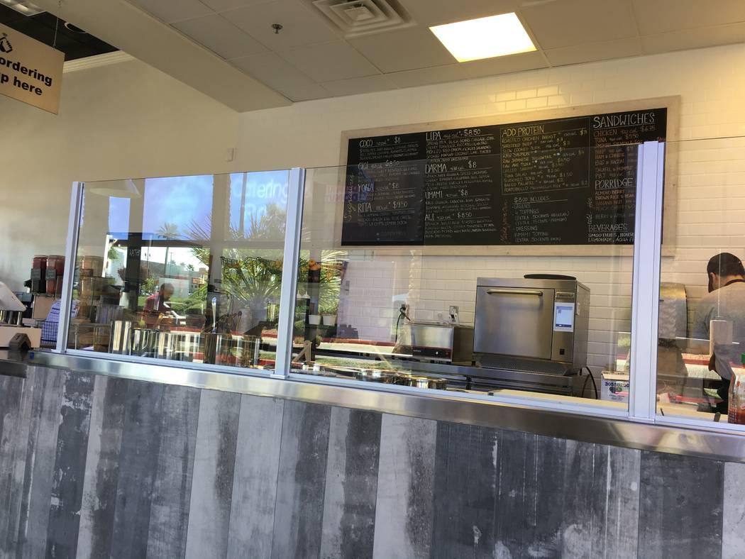 The ordering counter at Purple Potato, which opened this location in Henderson on Sept. 17. (Diego Mendoza-Moyers/View) @dmendozamoyers