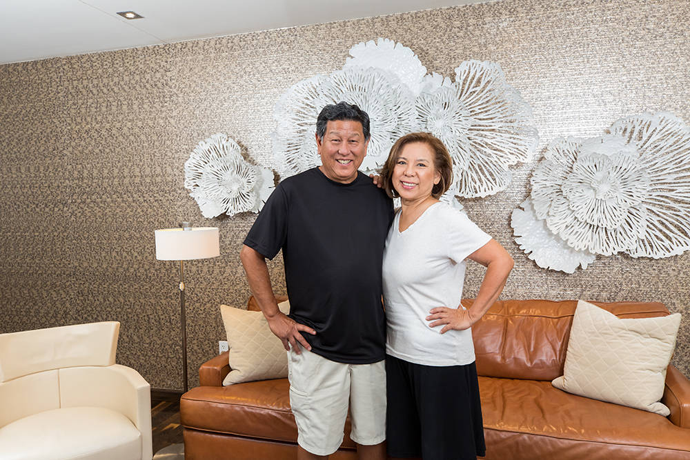 Hawaiian natives, Stella and Brian Yasuda, have traded in their island paradise for a home at One Las Vegas, the twin towers on the south end of Las Vegas Boulevard. (One Las Vegas)