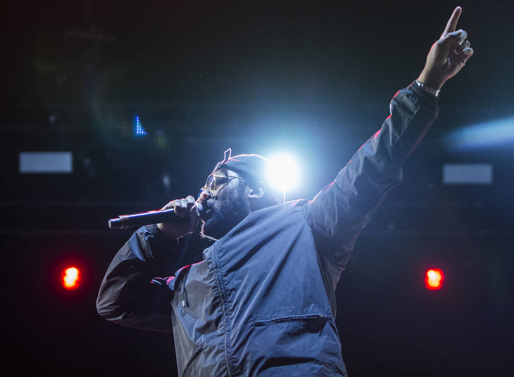 Schoolboy Q performers on the Downtown Stage during the second day of the Life is Beautiful music and arts festival on Saturday, September 23, 2017, in Las Vegas. Benjamin Hager Las Vegas Review-J ...