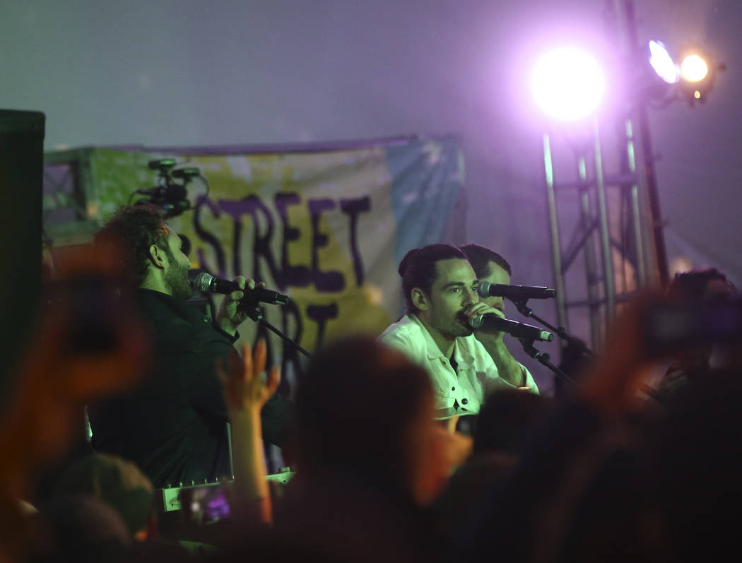Local Natives perform at the Toyota Music Den during the second day of the Life is Beautiful festival in downtown Las Vegas on Saturday, Sept. 23, 2017. Chase Stevens Las Vegas Review-Journal @css ...