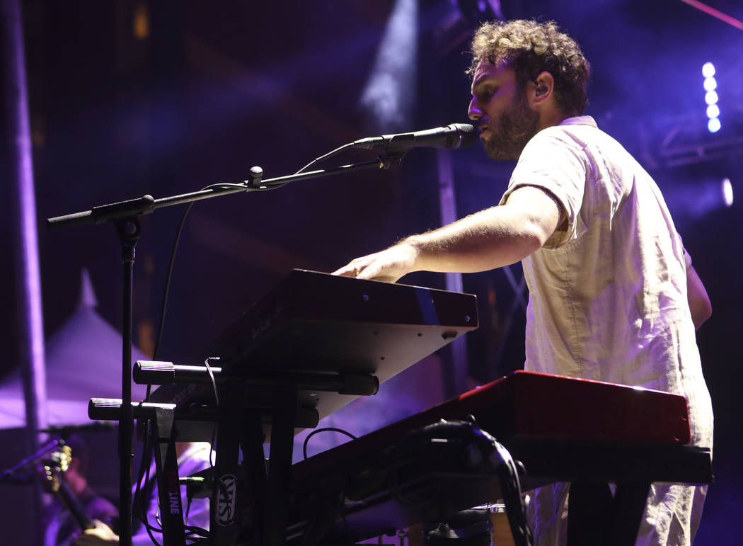 Kelcey Ayer of Local Natives performs at the Huntridge stage during the second day of the Life is Beautiful festival in downtown Las Vegas on Saturday, Sept. 23, 2017. Chase Stevens Las Vegas Revi ...