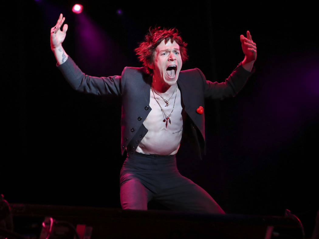 Matt Shultz of Cage the Elephant performs at the Downtown stage during the second day of the Life is Beautiful festival in downtown Las Vegas on Saturday, Sept. 23, 2017. Chase Stevens Las Vegas R ...