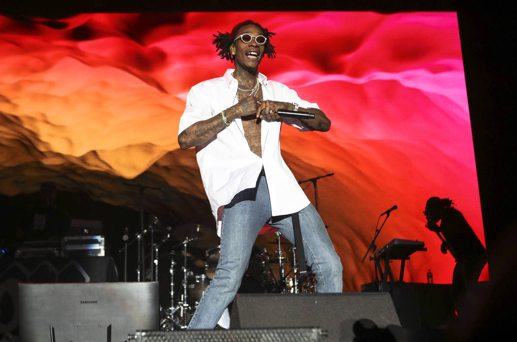 Wiz Khalifa performs at the Ambassador stage during the second day of the Life is Beautiful festival in downtown Las Vegas on Saturday, Sept. 23, 2017. Chase Stevens Las Vegas Review-Journal @csst ...