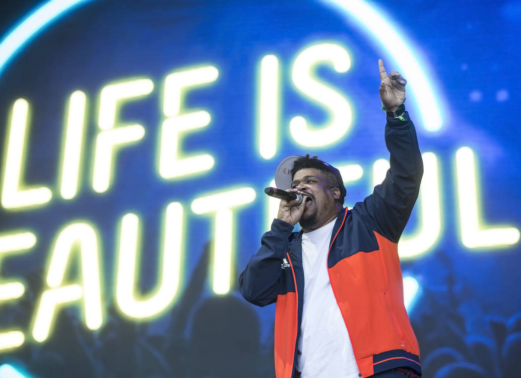 De La Soul's David Jude Jolicoeur performs on the Downtown Stage during the final day of the Life is Beautiful music and arts festival on Sunday, September 24, 2017, in Las Vegas. Benjamin Hager L ...