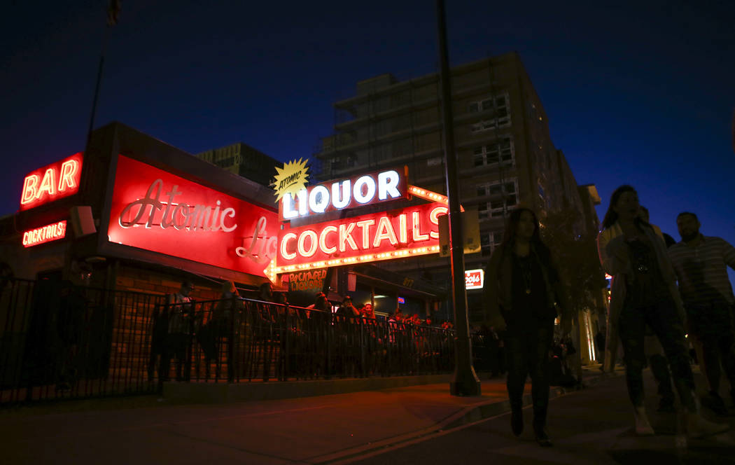 Atomic Liquors during the final day of the Life is Beautiful festival in downtown Las Vegas on Sunday, Sept. 24, 2017. Chase Stevens Las Vegas Review-Journal @csstevensphoto