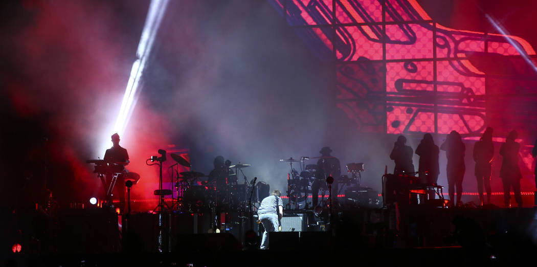 Gorillaz perform at the Downtown stage during the final day of the Life is Beautiful festival in downtown Las Vegas on Monday, Sept. 25, 2017. Chase Stevens Las Vegas Review-Journal @csstevensphoto