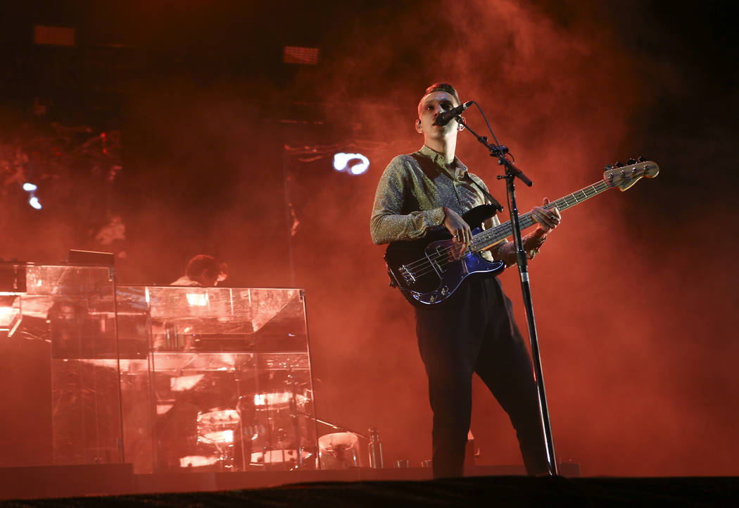 Oliver Sim of The xx performs at the Downtown stage during the final day of the Life is Beautiful festival in downtown Las Vegas on Sunday, Sept. 24, 2017. Chase Stevens Las Vegas Review-Journal @ ...