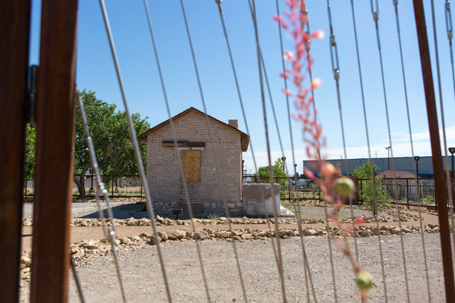 The Adobe building, dated to the late 1800s and known as one of the oldest standing structures in North Las Vegas, is seen at Kiel Ranch Historic Park on June 29, 2016. Elizabeth Brumley/Las Vegas ...