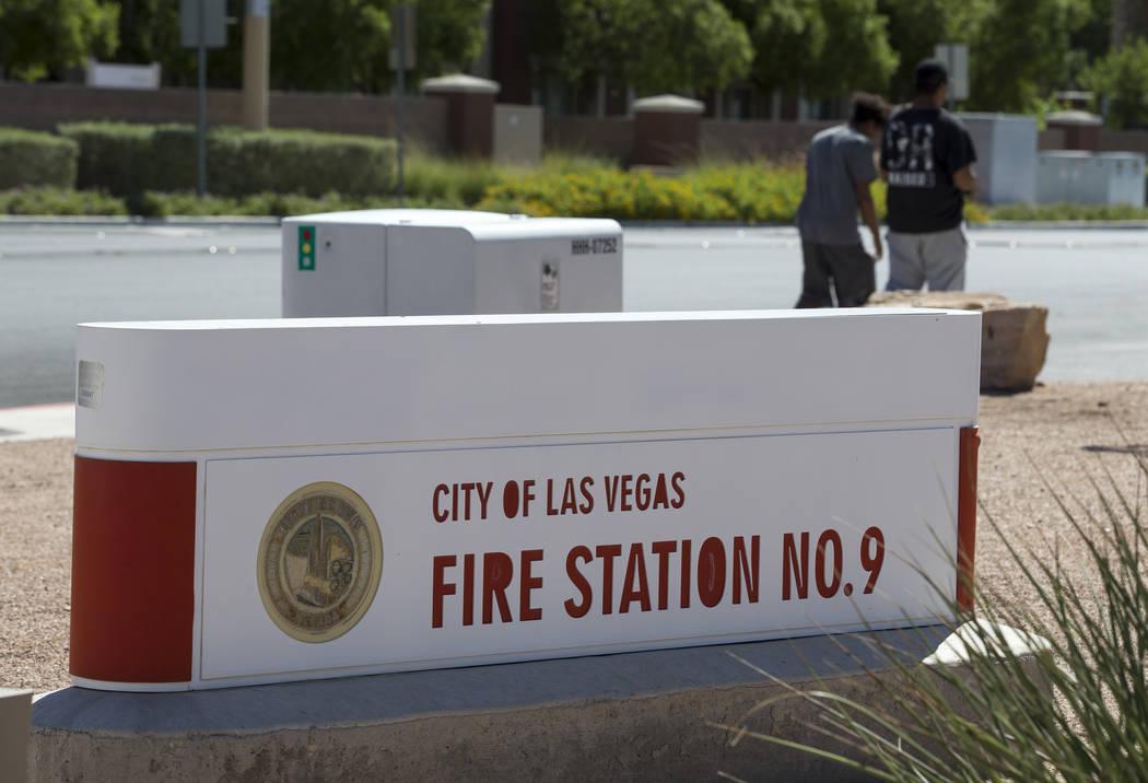 City of Las Vegas Fire Station 9 at 4747 North Rainbow Blvd. in Las Vegas, Thursday, Sept. 21, 2017. Richard Brian Las Vegas Review-Journal @vegasphotograph