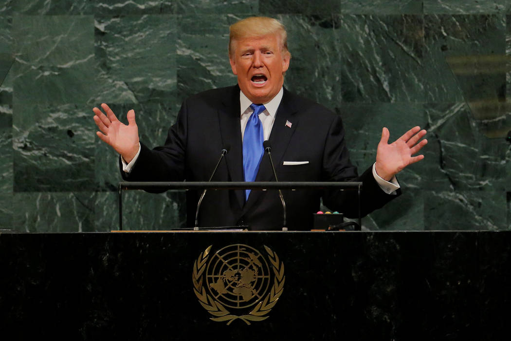 President Donald Trump addresses the 72nd United Nations General Assembly at U.N. headquarters in New York September 19, 2017. (REUTERS/Lucas Jackson)