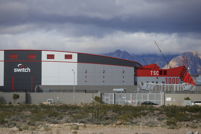 A Switch data center off of Warm Springs Road in Las Vegas on Monday, Feb. 20, 2017. Brett Le Blanc/Las Vegas Review-Journal Follow @bleblancphoto