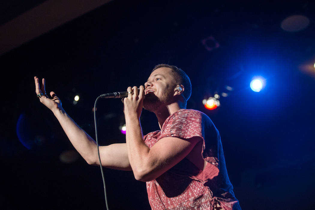 Dan Reynolds, lead vocalist for Imagine Dragons, performs during a special ceremony at Clark High School on Thursday, Sept. 21, 2017, in Las Vegas. Morgan Lieberman Las Vegas Review-Journal