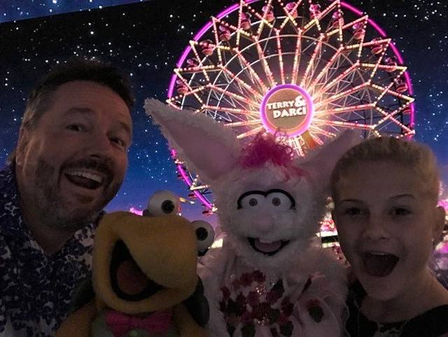 """Mirage headliner Terry Fator was on hand when Darci Farmer, a 12-year-old ventriloquist, won """"America's Got Talent."""" She will star in a show at Planet Hollywood on Nov. 3-4. (Courtesy)"""