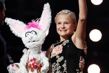 """Darci Farmer, a 12-year-old ventriloquist, beat out nine other finalists on the """"America's Got Talent"""" show, Sept. 20, to become the Season 12 winner of the $1 million prize. (Courtesy)"""