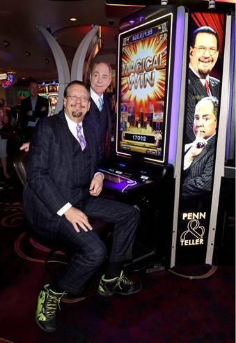 Las Vegas magicians Penn & Teller unveiled their own new slot machine this week. (Courtesy)