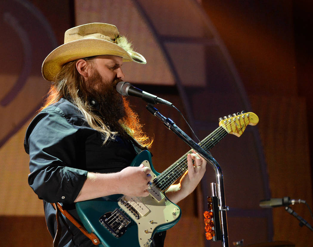 LAS VEGAS, NV - SEPTEMBER 22:  Chris Stapleton performs onstage during the 2017 iHeartRadio Music Festival at T-Mobile Arena on September 22, 2017 in Las Vegas, Nevada.  (Photo by Kevin Mazur/Gett ...