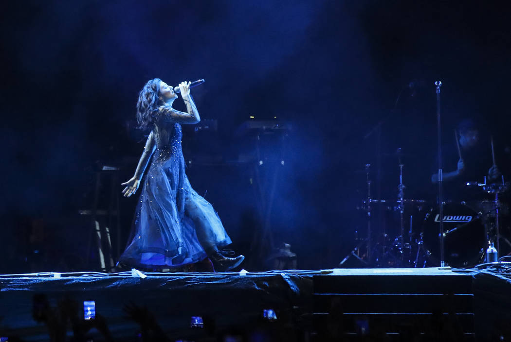 Lorde performs during the first day of the Life is Beautiful festival in downtown in Las Vegas on Friday, Sept. 22, 2017. Chase Stevens Las Vegas Review-Journal @csstevensphoto