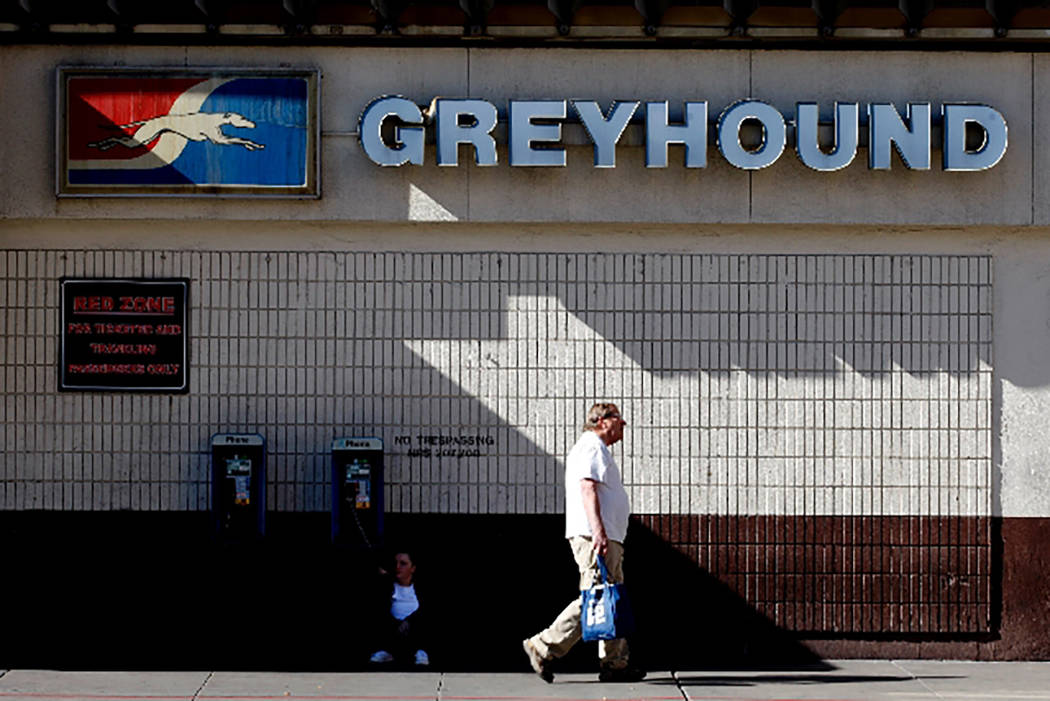 The downtown Greyhound station in Las Vegas. (Las Vegas Review-Journal file photo)