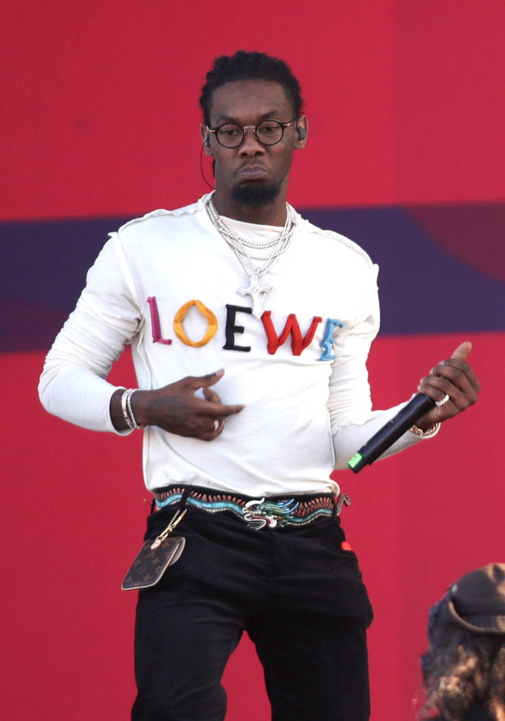 LAS VEGAS, NV - SEPTEMBER 23:  Offset of Migos performs onstage during the Daytime Village Presented by Capital One at the 2017 HeartRadio Music Festival at the Las Vegas Village on September 23,  ...