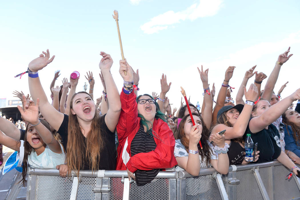 Fans attend the Daytime Village Presented by Capital One at the 2017 HeartRadio Music Festival at the Las Vegas Village on September 23. (Photo by Bryan Steffy/Getty Images for iHeartMedia)