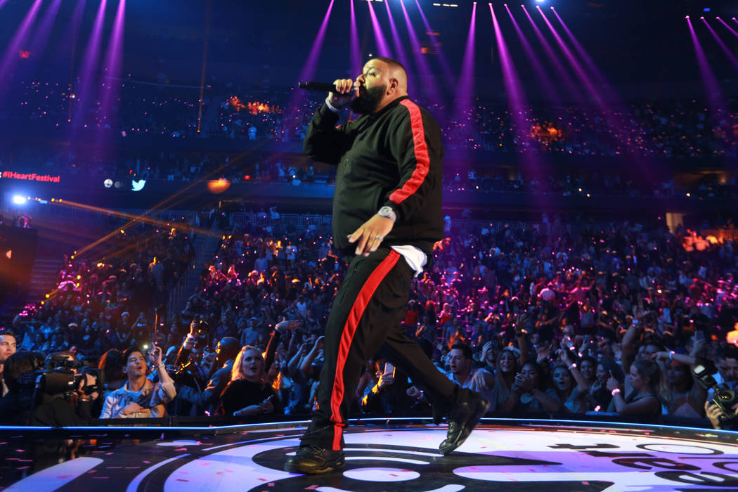 DJ Khaled performs onstage during the 2017 iHeartRadio Music Festival at T-Mobile Arena on September 23, 2017 in Las Vegas, Nevada.  (Photo by Rich Fury/Getty Images for iHeartMedia)