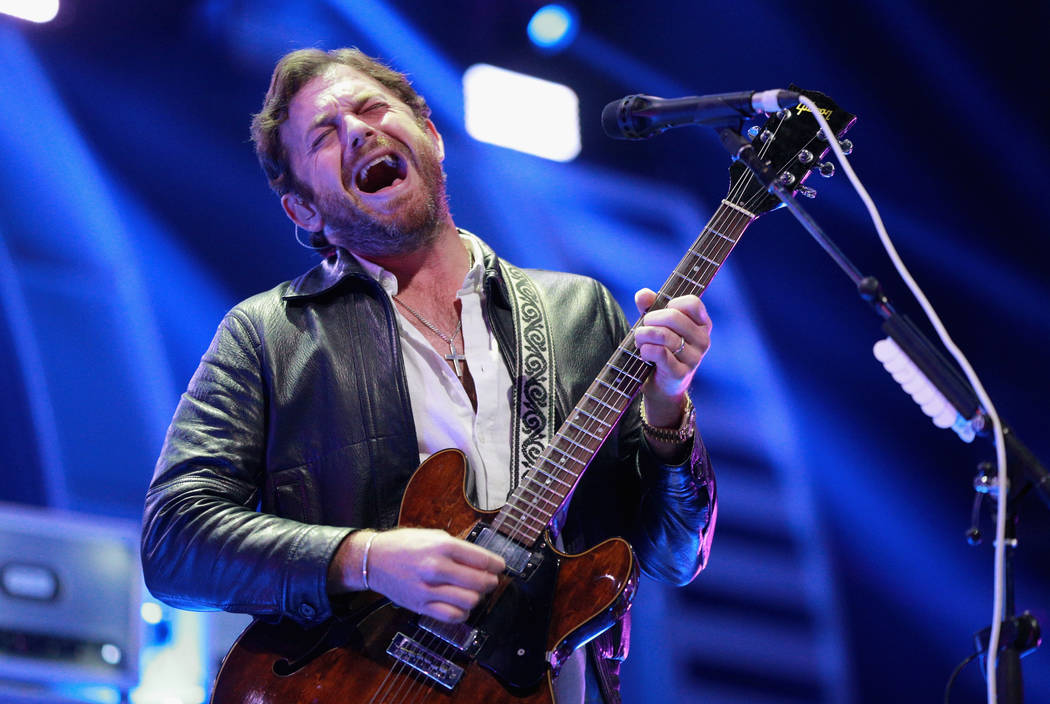 Caleb Followill of music group Kings of Leon performs onstage during the 2017 iHeartRadio Music Festival at T-Mobile Arena on September 23, 2017 in Las Vegas, Nevada.  (Photo by Rich Fury/Getty Im ...
