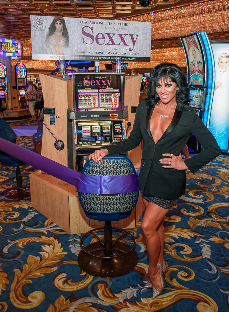 "Jennifer Romas, creator of ""Sexxy,"" is shown at Westgate Las Vegas on Saturday, Sept. 23, 2017. (Pat Gray/Erik Kabik Photography)"