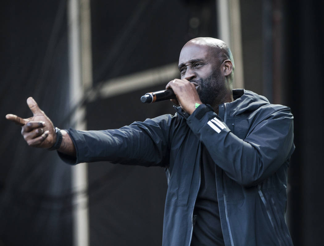 De La Soul's Kelvin Mercer performs on the Downtown Stage during the final day of the Life is Beautiful music and arts festival on Sunday, September 24, 2017, in Las Vegas. Benjamin Hager Las Vega ...