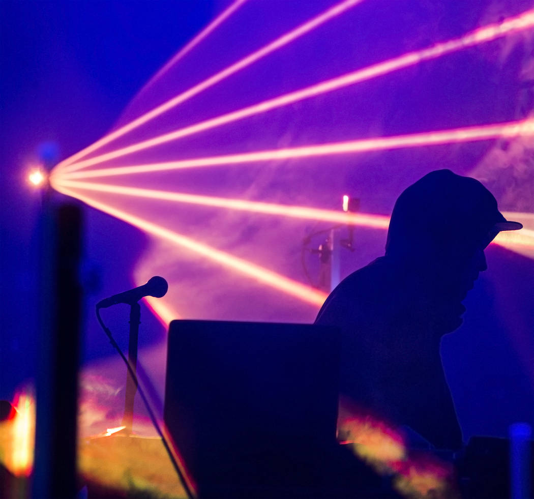 Derek Vincent Smith, of Pretty Lights, performs on the Fremont Stage during the final day of the Life is Beautiful music and arts festival on Sunday, September 24, 2017, in Las Vegas. Benjamin Hag ...