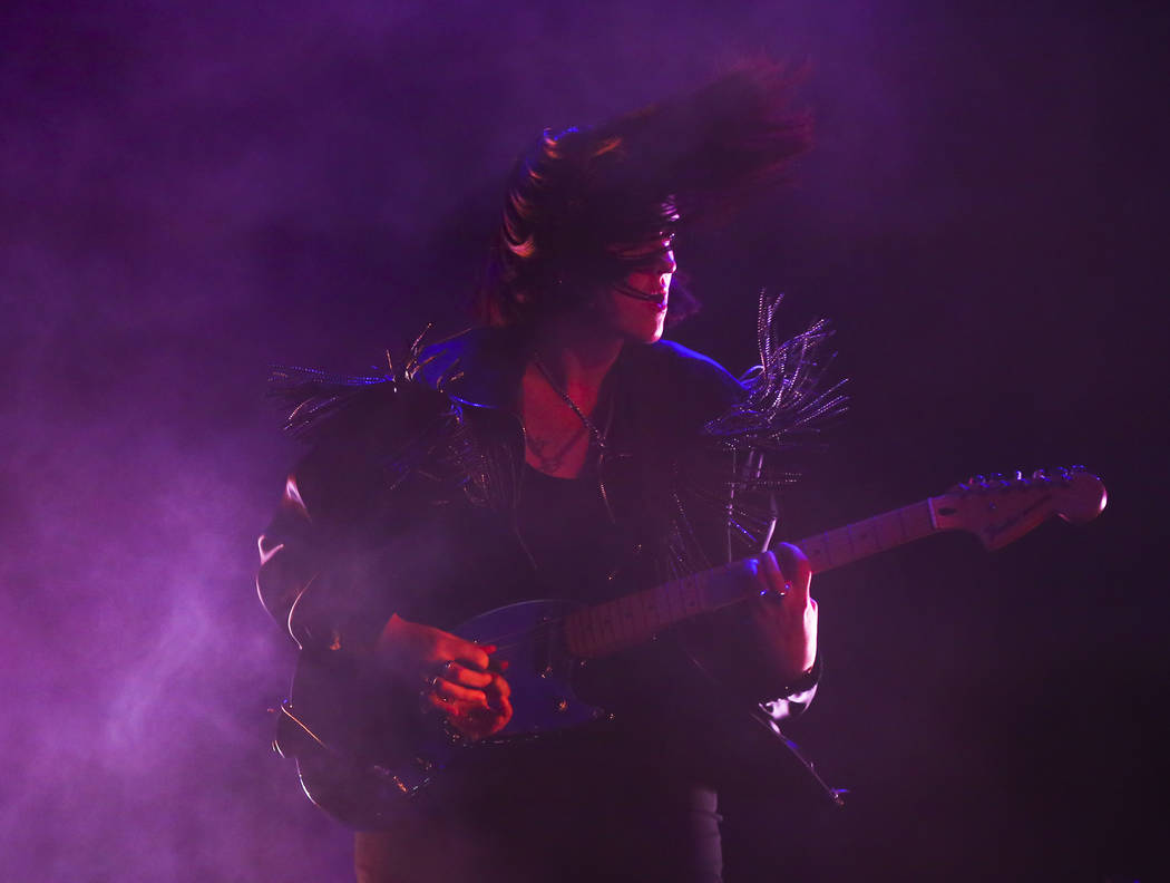Romy Madley Croft of The xx performs at the Downtown stage during the final day of the Life is Beautiful festival in downtown Las Vegas on Sunday, Sept. 24, 2017. Chase Stevens Las Vegas Review-Jo ...