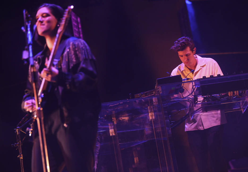 Romy Madley Croft, left, and Jamie xx of The xx perform at the Downtown stage during the final day of the Life is Beautiful festival in downtown Las Vegas on Sunday, Sept. 24, 2017. Chase Stevens  ...