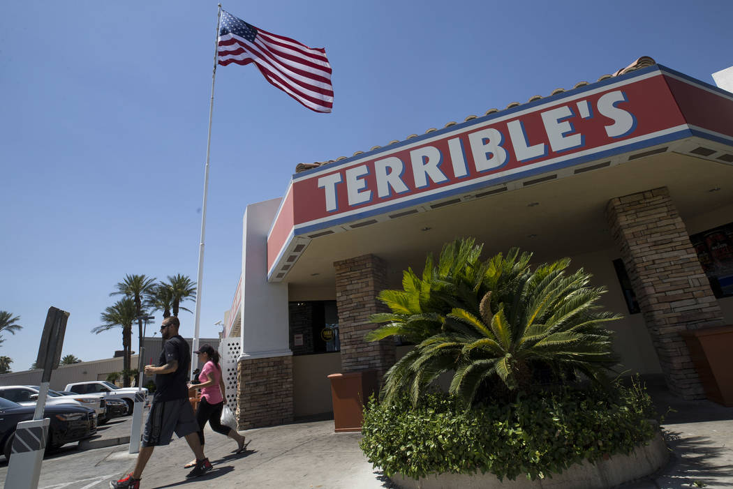 The Terrible Herbst gas station on West Russell Road and Polaris Avenue in Las Vegas on Sunday, July 2, 2017. (Richard Brian/Las Vegas Review-Journal) @vegasphotograph