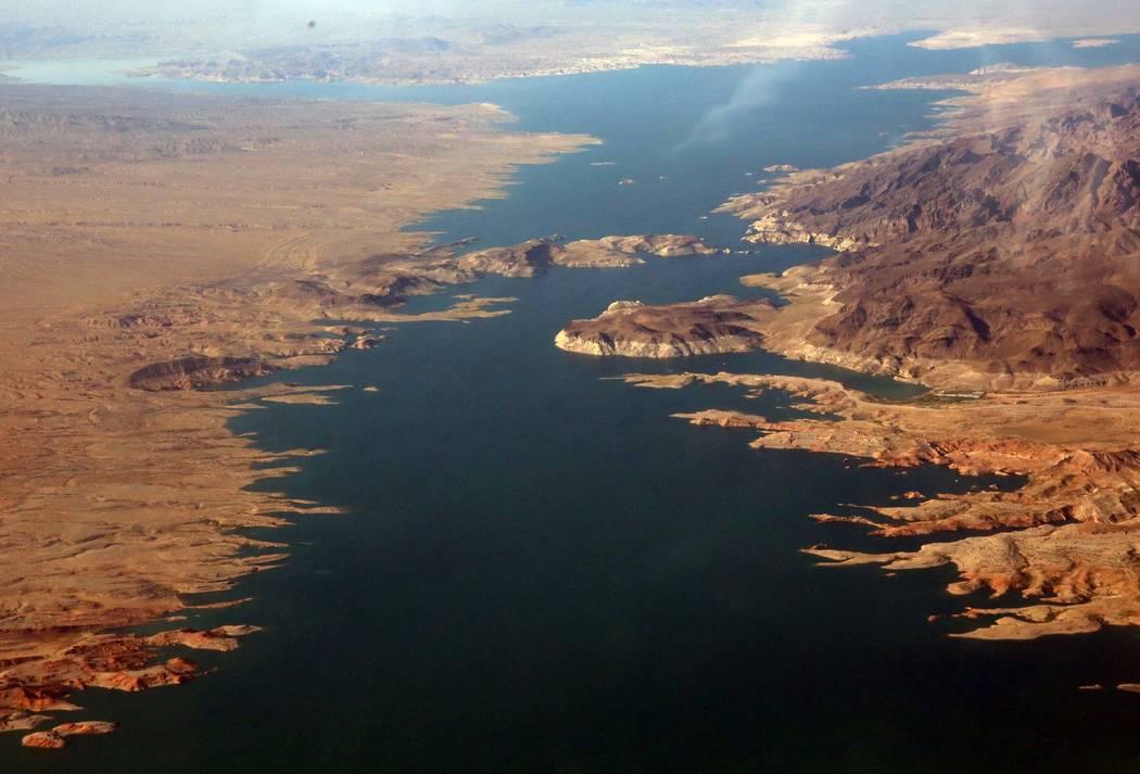 An aerial photo of Lake Mead Recreation Area on Friday, July 21, 2017, in Lake Mead near Arizona. Bizuayehu Tesfaye Las Vegas Review-Journal @bizutesfaye
