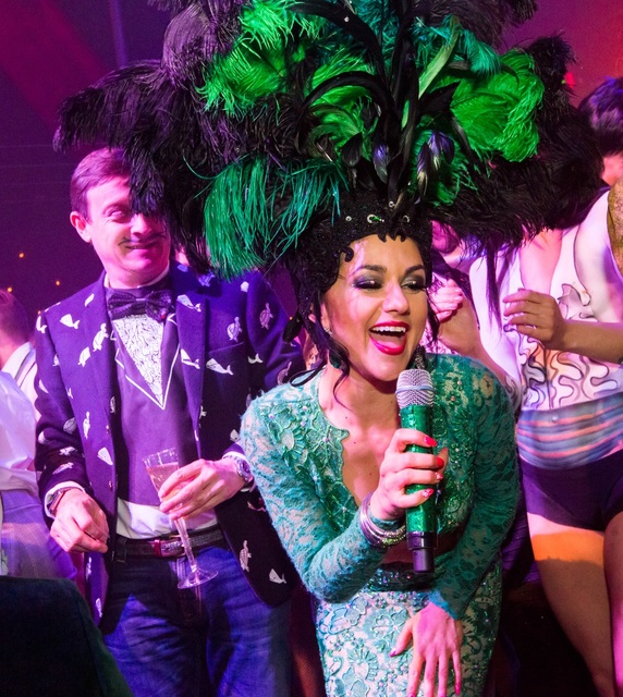 "Melody Sweets is shown with Ross Mollison in a party for ""Absinthe"" at Caesars Palace. (Erik Kabik)"