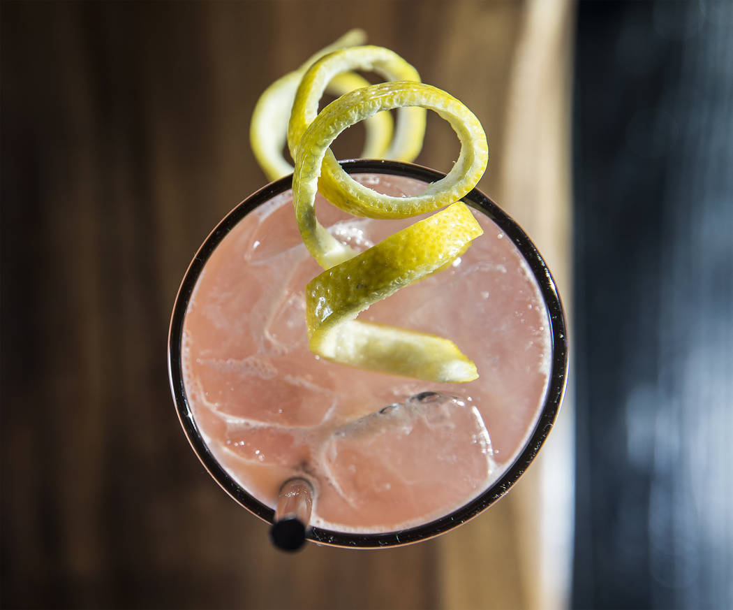 The guava kombucha cocktail at Hamptons on Thursday, September 21, 2017, at Trivoli Village, in Las Vegas. Benjamin Hager Las Vegas Review-Journal @benjaminhphoto