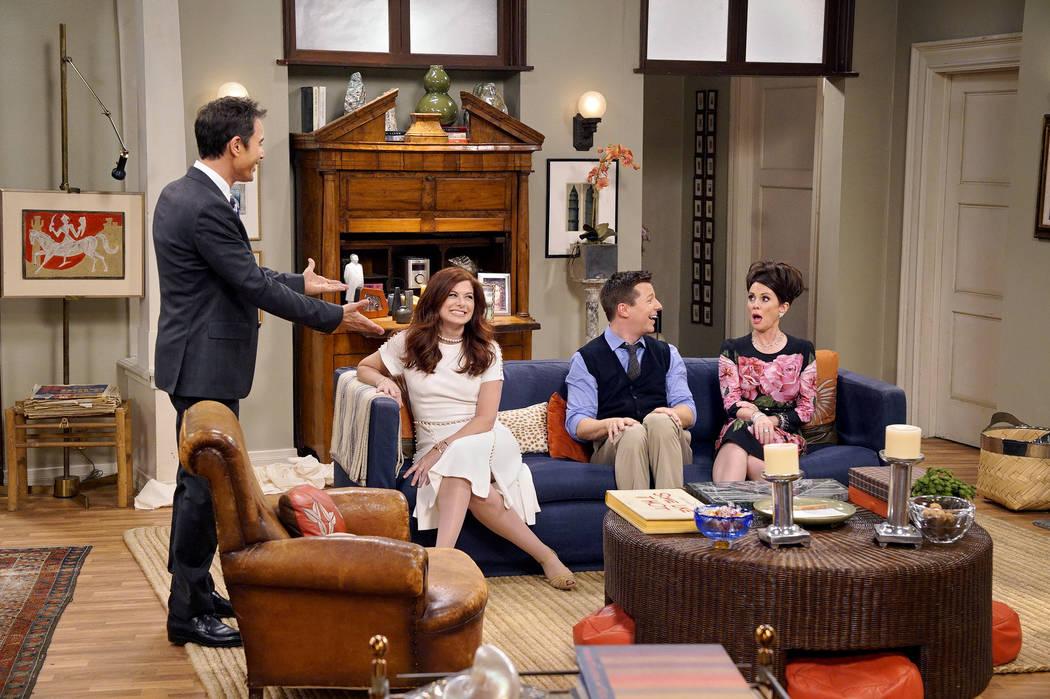 "Eric McCormack as Will Truman, Debra Messing as Grace Adler, Sean Hayes as Jack McFarland, Megan Mullally as Karen Walker in ""Will & Grace."" Chris Haston NBC"