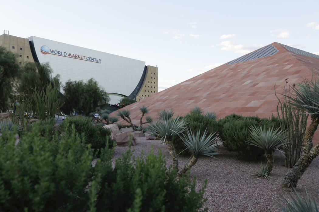 World Market Center Las Vegas, left, and the Clark County Government Center near Symphony Park in Las Vegas, on Tuesday, Sept.12, 2017. Gabriella Angotti-Jones Las Vegas Review-Journal @gabriellangojo