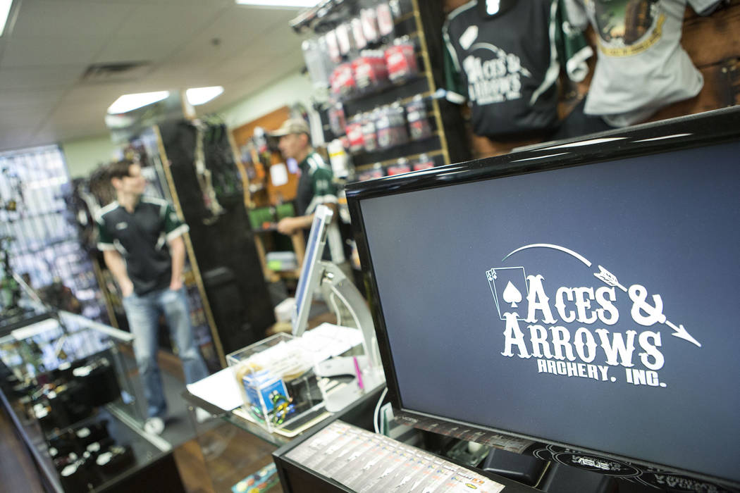 Aces and Arrows, a store and 22-lane range in Henderson, Thursday, Sept. 28, 2017. Ryan Sidor and AJ Hanagata opened Aces and Arrows in August. Bridget Bennett Las Vegas Review-Journal @BridgetKBe ...