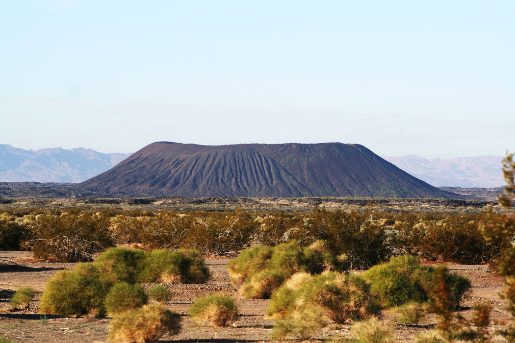 Amboy Crater is located just a few minutes drive west of Amboy, Calif. along scenic U.S. Route 66. (Deborah Wall)