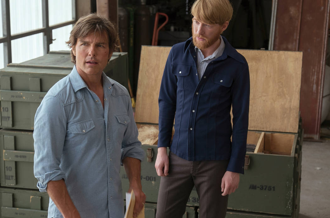 "Barry Seal (Tom Cruise) and Monty Schafer (Domhnall Gleesomn) in Universal Pictures' ""American Made."""
