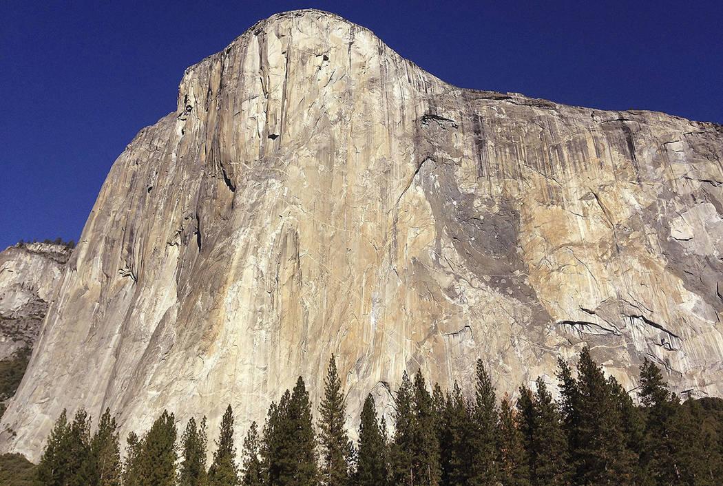 El Capitan is seen in Yosemite National Park, Calif., in 2015. (AP Photo/Ben Margot)