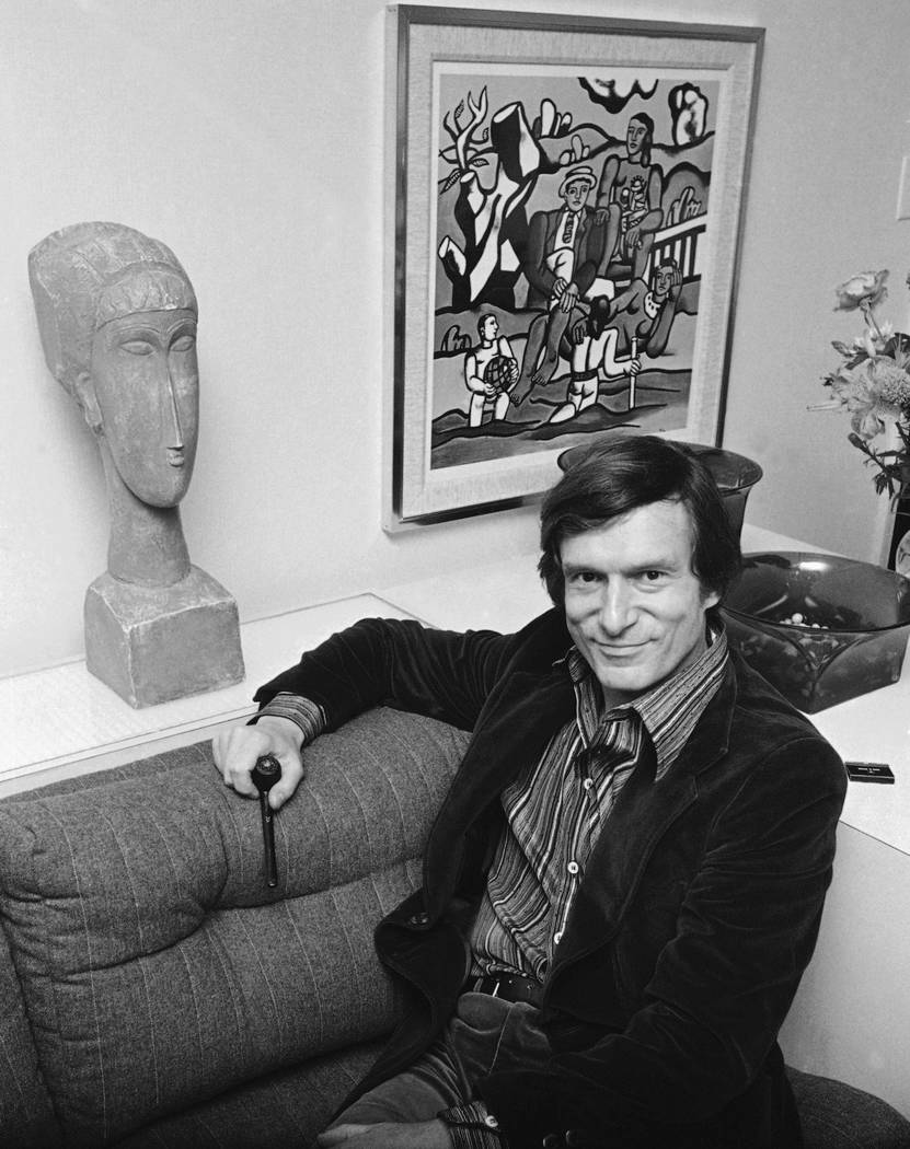 Playboy philosopher Hugh Hefner says his 200 million dollar empire is setting down after a flamboyant youth and a tumultuous adolescence, Nov. 16, 1977. (AP Photo/Carlos Rene Perez)